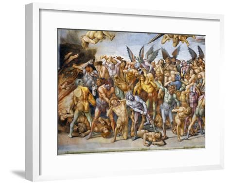 Detail of The Damned in Hell-Luca Signorelli-Framed Art Print