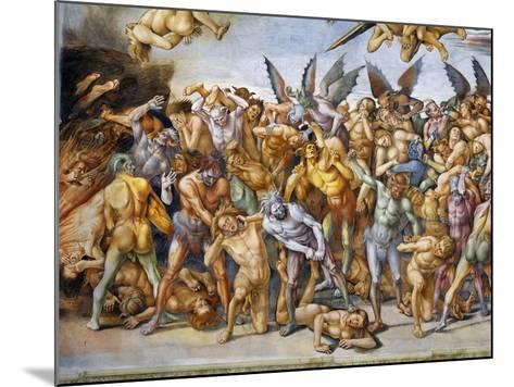 Detail of The Damned in Hell-Luca Signorelli-Mounted Giclee Print