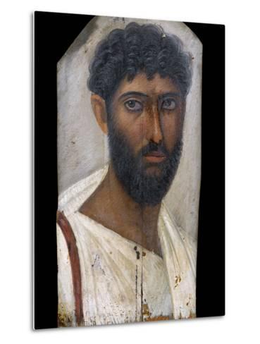 Fayum Portrait of a Bearded Man-S^ Vannini-Metal Print