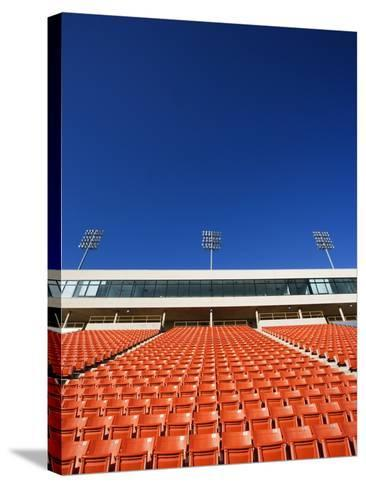 Empty Football Stadium Seats-Robert Michael-Stretched Canvas Print