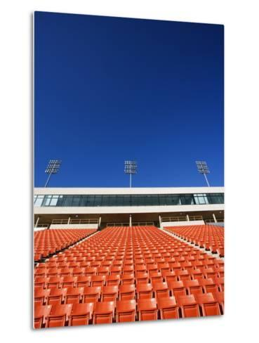 Empty Football Stadium Seats-Robert Michael-Metal Print