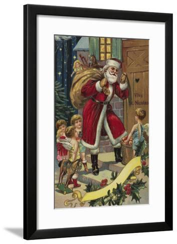 Vive St. Nicolas--Framed Art Print