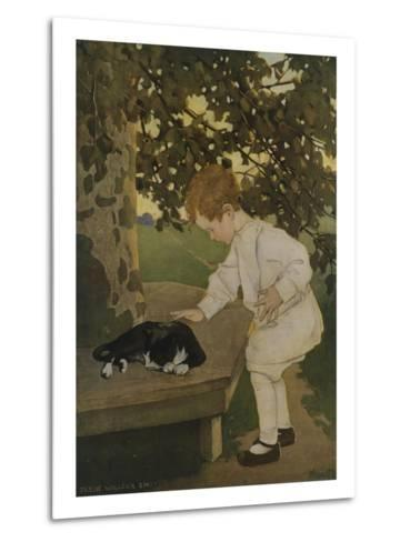 The Senses: Touch-Jessie Willcox-Smith-Metal Print