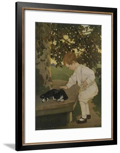 The Senses: Touch-Jessie Willcox-Smith-Framed Art Print