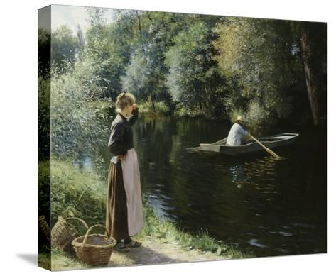 Boating-Leopold-Francois Kowalsky-Stretched Canvas Print