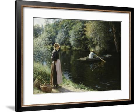 Boating-Leopold-Francois Kowalsky-Framed Art Print
