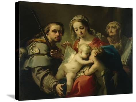 Madonna and Child-Gaetano Gandolfi-Stretched Canvas Print