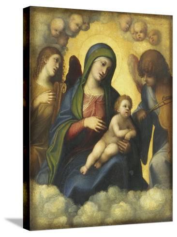 Madonna and Child in Glory-Correggio-Stretched Canvas Print