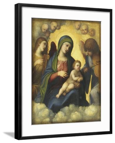 Madonna and Child in Glory-Correggio-Framed Art Print