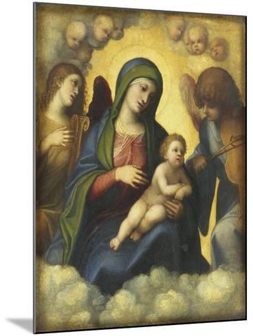 Madonna and Child in Glory-Correggio-Mounted Giclee Print