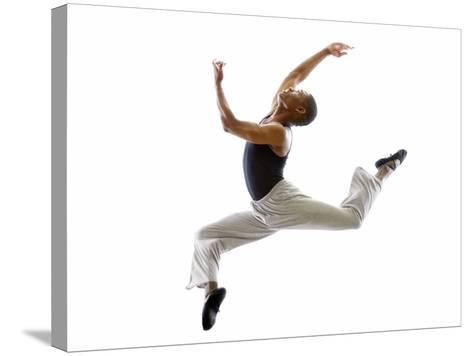 Ballet Dancer Mid-air in Jump-Tim Pannell-Stretched Canvas Print