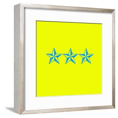 Blue Stars--Framed Art Print