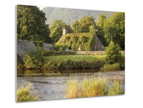 Vine-Covered Stone Cottage Near River Conwy-Richard Klune-Metal Print