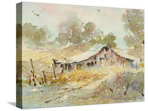 Dogtown Road Barn-LaVere Hutchings-Stretched Canvas Print