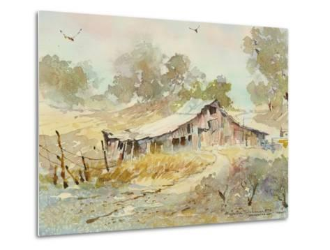 Dogtown Road Barn-LaVere Hutchings-Metal Print