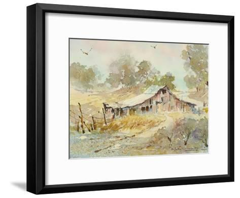 Dogtown Road Barn-LaVere Hutchings-Framed Art Print