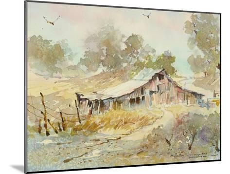 Dogtown Road Barn-LaVere Hutchings-Mounted Giclee Print