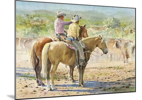 Splitting the Herd-LaVere Hutchings-Mounted Giclee Print