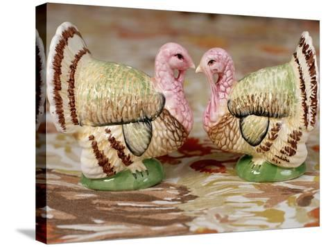 Turkey Saltcellar and Pepper Shaker Set-Stacy Morrison-Stretched Canvas Print