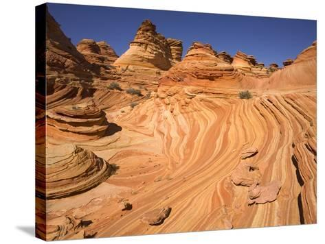 Red Sandstone Buttes and Layers in Desert-John Eastcott & Yva Momatiuk-Stretched Canvas Print
