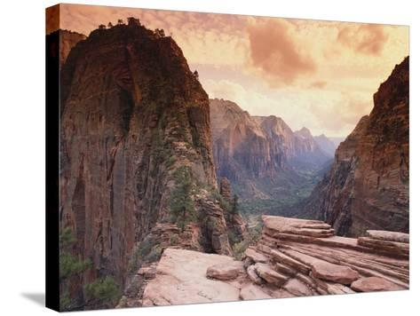 Angel's Landing--Stretched Canvas Print
