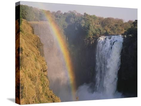 Rainbow Over Victoria Falls--Stretched Canvas Print