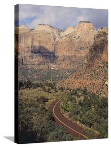 Curving Rural Road--Stretched Canvas Print