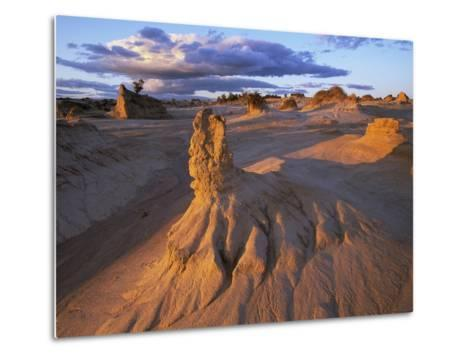 Rock Formations in Mungo National Park-Theo Allofs-Metal Print