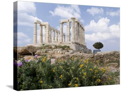 Temple of Poseidon-Richard Nowitz-Stretched Canvas Print