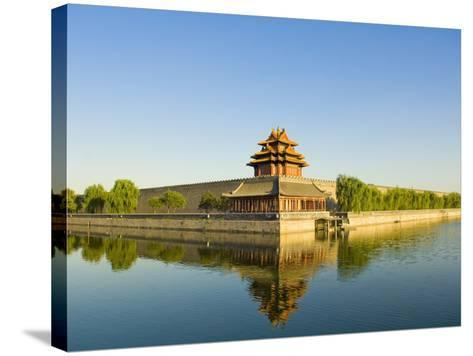 Corner Tower and Moat-Xiaoyang Liu-Stretched Canvas Print