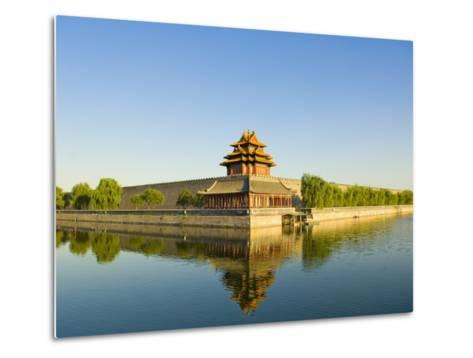Corner Tower and Moat-Xiaoyang Liu-Metal Print