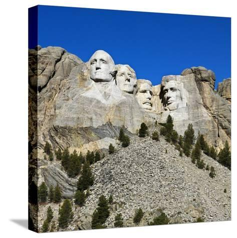 Mount Rushmore National Memorial-Ron Chapple-Stretched Canvas Print