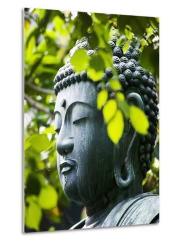 Buddha in Senso-ji Temple Garden-Bruno Ehrs-Metal Print