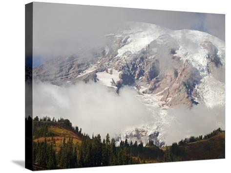 Mount Rainier in the Clouds-Craig Tuttle-Stretched Canvas Print