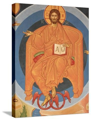 Detail of Last Judgment Fresco at Monastery of Saint-Antoine-le-Grand-Pascal Deloche-Stretched Canvas Print
