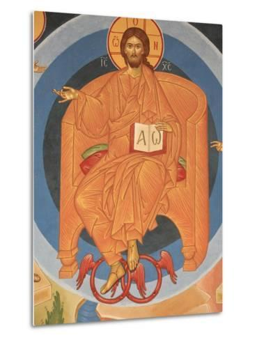 Detail of Last Judgment Fresco at Monastery of Saint-Antoine-le-Grand-Pascal Deloche-Metal Print