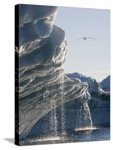 Melting Icebergs in Disko Bay, Greenland-Paul Souders-Stretched Canvas Print