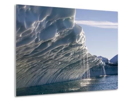 Melting Icebergs, Ililussat, Greenland-Paul Souders-Metal Print