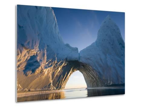 Arched Iceberg in Ililussat-Paul Souders-Metal Print