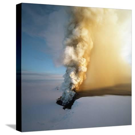 Eruption of Grimsfjall Volcano--Stretched Canvas Print