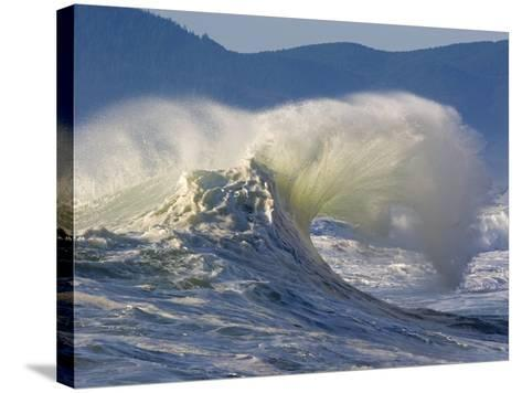 Wave Curl in Winter Storm-Craig Tuttle-Stretched Canvas Print