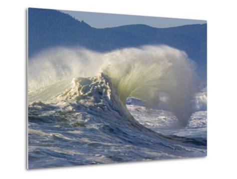 Wave Curl in Winter Storm-Craig Tuttle-Metal Print
