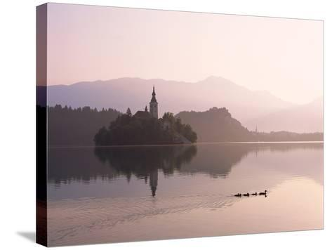 Bled Island and Lake Bled--Stretched Canvas Print