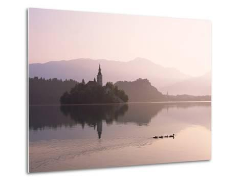 Bled Island and Lake Bled--Metal Print
