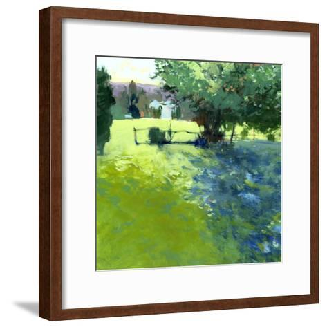 Field with House-Lou Wall-Framed Art Print
