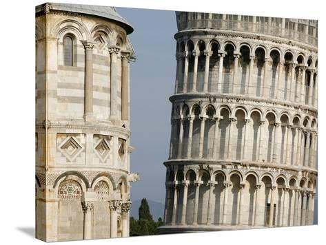 Cathedral and Leaning Tower of Pisa-Fred de Noyelle-Stretched Canvas Print