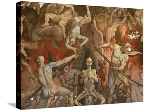 Detail of Hell from Last Judgment, Fresco Cycle-Frederico Zuccaro-Stretched Canvas Print