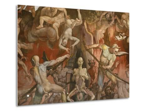 Detail of Hell from Last Judgment, Fresco Cycle-Frederico Zuccaro-Metal Print