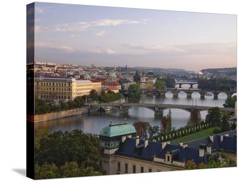 Bridges Crossing the Vltava-William Manning-Stretched Canvas Print