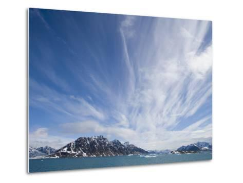 Cirrus Clouds Over Fjord in June-Theo Allofs-Metal Print